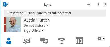 erg- Lync presence Do Not Disturb